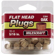 PLUGS FLATHEAD OAK 5/16IN. 35/PKG