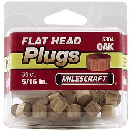 PLUGS FLATHEAD OAK 5/16IN. 35/PKG