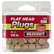 PLUGS FLATHEAD OAK 3/8IN. 35/PKG
