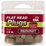 PLUGS FLATHEAD OAK 1/2IN. 35/PKG