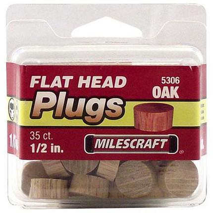 PLUGS FLATHEAD OAK 1/2IN. 35/PKG