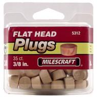PLUGS FLATHEAD 3/8IN. 35/PKG