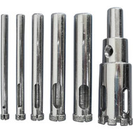 DRILL BIT SET FOR GLASS/GRANITE 7PCS