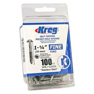 POCKET SCREW 1 1/4IN. NO. 7 FINE 100PACK KREG