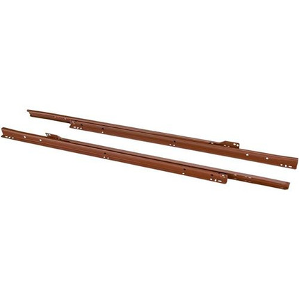 SELF CLOSING DRAWER SLIDES 24IN. BROWN