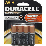 BATTERY 1.5V AA 4/PK DURACELL BLISTERPK