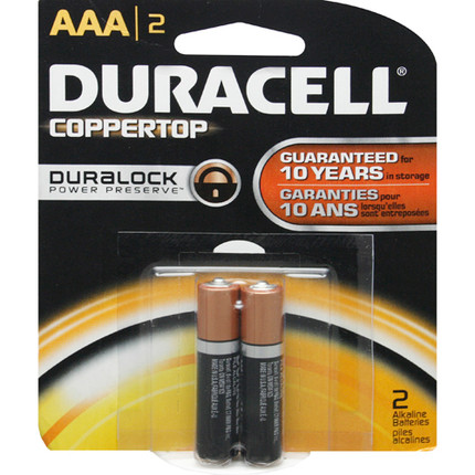 BATTERY 1.5V AAA 2/PK DURACELL BLISTERPK