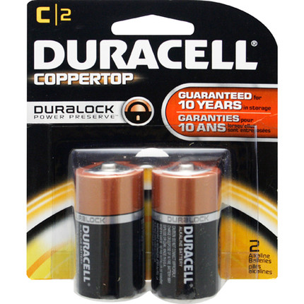 BATTERY 1.5V C 2/PK DURACELL BLISTERPACK