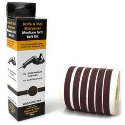 ABRASIVE KIT MEDIUM GRIT P220 6 BELTS