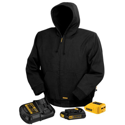 JACKET HEATED BLACK 2XL 20V/12V DEWALT