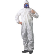 COVERALL ELASTIC HOOD WRIST ANKLE LARGE