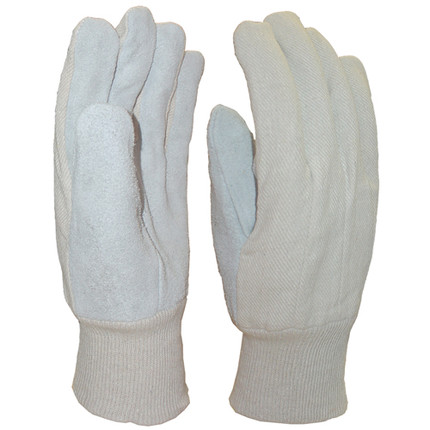 GLOVES LEATHER PALM KNIT WRIST