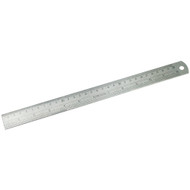STEEL RULE 12IN. INCH/METRIC