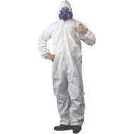 COVERALL ELASTIC HOOD WRIST ANKLE SMALL