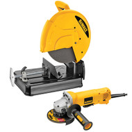 CHOP SAW 14IN. WITH 4 1/2IN. GRINDER DEWALT