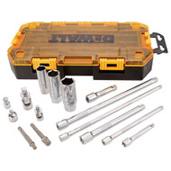 15PC ACCESSORY TOOL KIT 1/4IN. AND 3/8IN. DRIVE