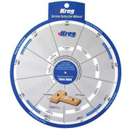 KREG SCREW SELECTOR WHEEL. WOODWORKING