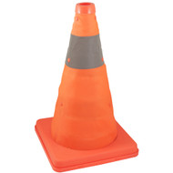 COLLAPSIBLE SAFETY CONE 12IN. WITH PVC ZIP