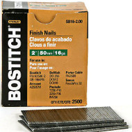 NAIL BRAD 16G. 2.5M 2IN. FINISH 1000PK