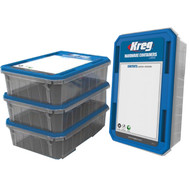 KREG LARGE HARDWARE CONTAINER 4 PACK