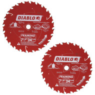 7 1/4IN. X24T FRAMING BLADE DIABLO PK OF 2
