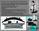 E- Brochure gives overview of Pho-Reel Plus camera shoulder strap system. Please the image shown is two straps that are purchased separately.