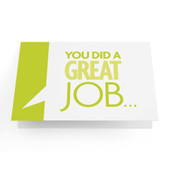 "Business Greeting Cards ""You Did a Great Job..."" - Pack of 10"
