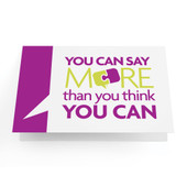 "Business Greeting Cards ""You Can Say More Than You Think You Can"" - Pack of 10"