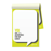 Inspirational Notepads - You are 100% Accountable for Your Career