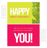 One of the Best Hiring Decisions We Ever Made: You! - 10-Pack Happy Work Anniversary Cards