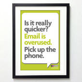 Office Posters - Pick Up the Phone