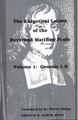 The Exegetical Labors of the Rev. Matthew Poole, Vol. 1: Genesis 1-9
