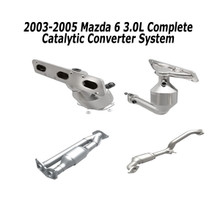 2003-2005 Mazda 6 | 3L | Complete Converter [ackage | Front manifold converter ,Rear Manifold converter, right rear converter, left rear converter | direct Fit epa grade