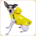 Hooded Slicker in Yellow--Reflective Trim