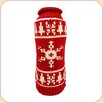 Red & White Snowflake Sweater
