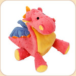 One Plush Coral Dragon
