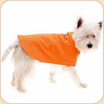 Lined Waterproof Orange Raincoat