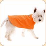 Lined Waterproof Orange Raincoat