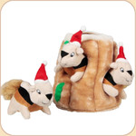 Santa Squirrel Puzzle Stump