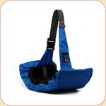 Nylon Messenger Bag in Blue