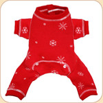Snowflake Longjohns in Red