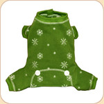 Snowflake Longjohns in Green