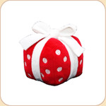 Red Plush Holiday Gift Musical Toy