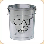 Food Storage Can & Scoop--Cat