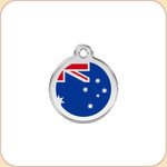 Enamel/Stainless Australian Flag