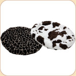 Oval Zoo Nap Mat--Cow & Giraffe Patterns