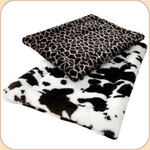 Rectangular Zoo Nap Crate Mat--Cow & Giraffe
