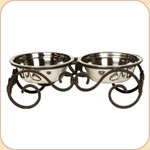 Steel Scroll Double Diner