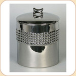 Studded Nickel Plated 11 Cup Treat Jar