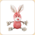 One Rope Pink Bunny Toy